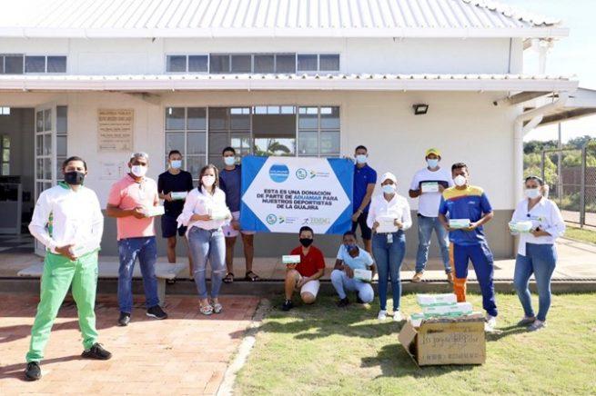 Tapabocas entregados en La Guajira