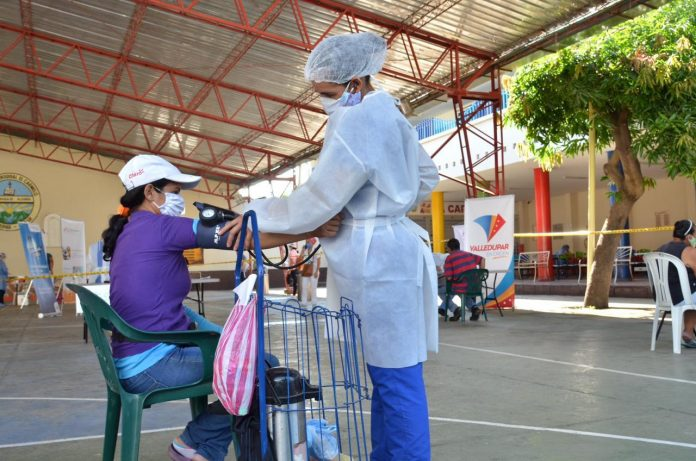 Prevención del Covid en el sector Boliche de Valledupar