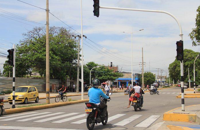 Semáforos en mal estado en Valledupar