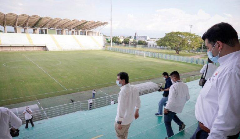 Estadio Armando Maestre Pavajeau fue inspeccionado por la Contraloría General: convocó a mesa técnica