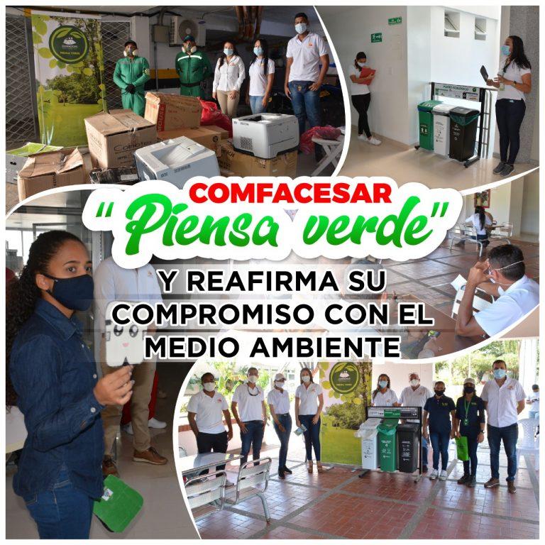 """COMFACESAR """"piensa verde"""" y reafirma su compromiso con el medio ambiente"""