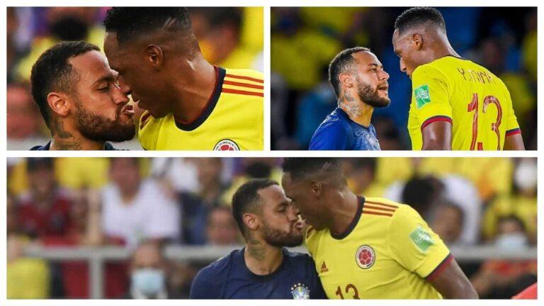 Tenso careo entre Neymar y Yerry Mina casi termina con beso entre ambos